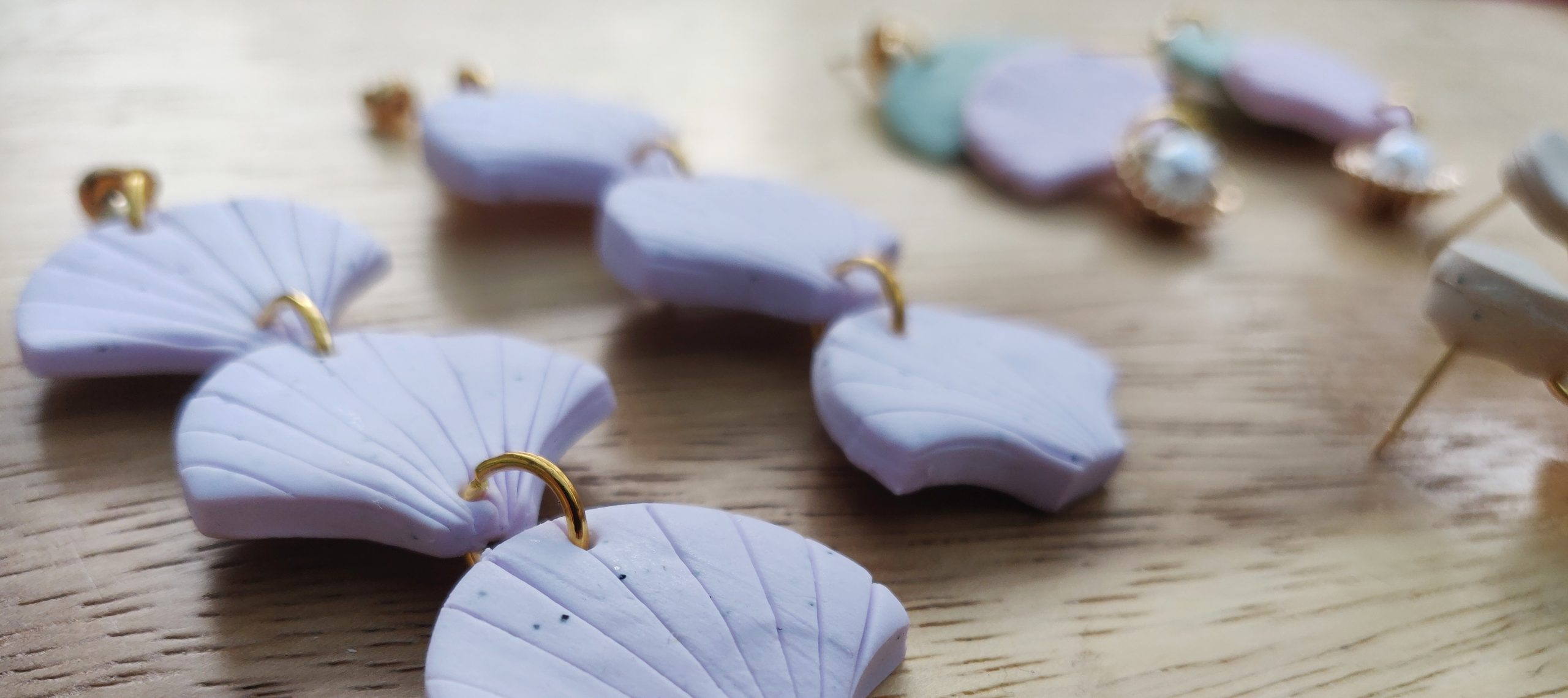 Polymer Clay Earrings handmade in Oxfordshire