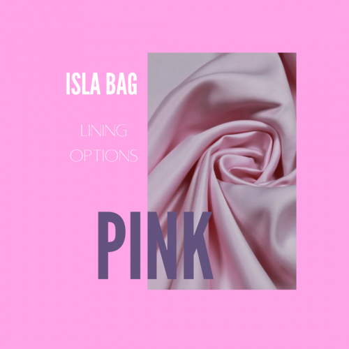 The Isla Bag with Pink Satin Lining