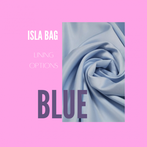 The Isla Bag with Blue Satin Lining