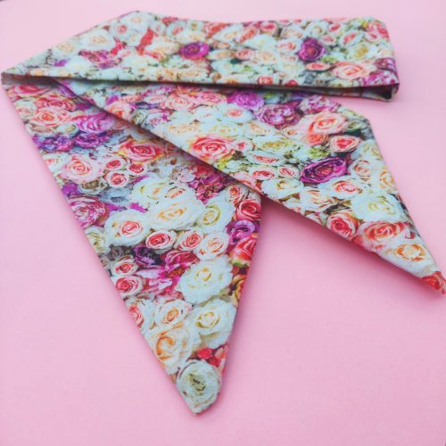 Handmade Head Scarf available in Floral Fabric, Slow Fashion made in Oxfordshire