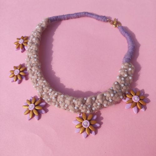 The Handmade Daisy Deux Pixie Necklace with intricate beaded detail