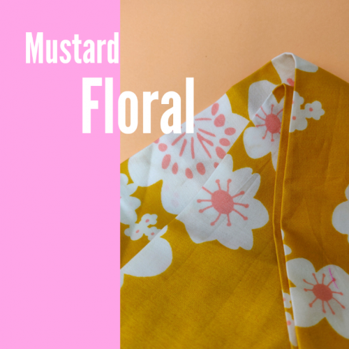 Handmade Mustard Floral Headscarf